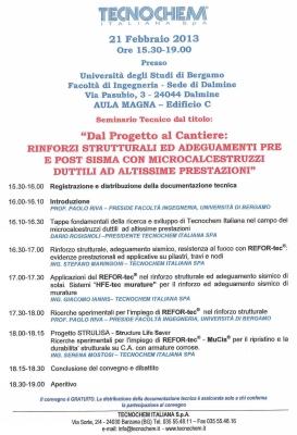 Seminar in Bergamo 21st February 2013