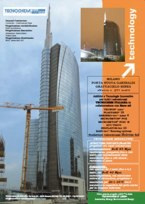 Skyscraper Hines has been made with additives and Innovative Technologies from Tecnochem Italiana S.p.A.