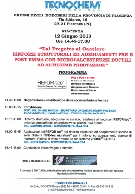 Seminar in Piacenza 12th June 2013