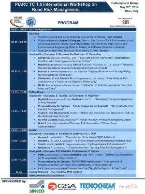 IARC TC 1.5 - International Workshop on the Infrastructure Risk Management.