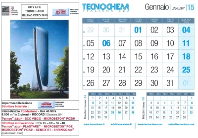 Calendar month of January 2015