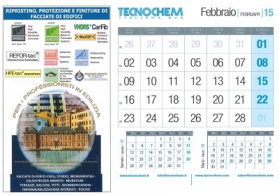 Calendario mese di Febbraio 2015