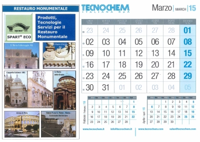 Calendar month of March 2015