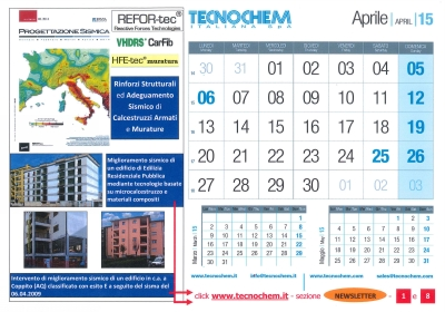Calendar month of April 2015