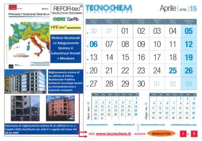 Calendario mese di Aprile 2015
