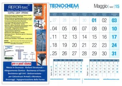 Calendario mese di Maggio 2015