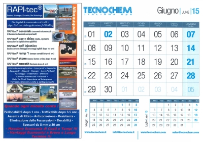 Calendar month of June 2015